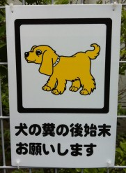 Japan sign - yellow dog 12